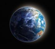 Aarde bij dageraad stock illustratie