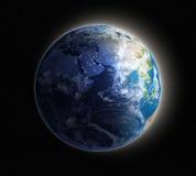 Aarde bij dageraad royalty-vrije illustratie