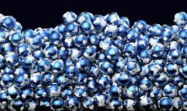 Aarde in blauwe kleur stock illustratie