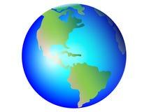 Aarde, bol vectorbeeld Het noorden en Zuid-Amerika Kaarten van de beeldspraak van NASA royalty-vrije illustratie