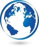 Aarde, bol, wereldbol, embleem, teken vector illustratie