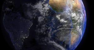 Aarde dag en nacht Royalty-vrije Stock Fotografie