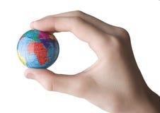 Aarde in de hand Stock Foto
