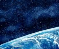 Aarde in de ruimte stock foto