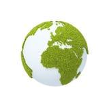 Aarde die met gras wordt behandeld vector illustratie