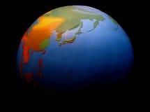 Aarde die op zwarte wordt geïsoleerde Stock Foto's