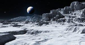 Aarde die over de Maan toenemen royalty-vrije illustratie