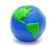 Aarde die van klei wordt gemaakt Stock Afbeelding