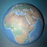 Aarde die zich op schone ruimte bevinden Royalty-vrije Stock Foto's