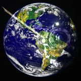 Aarde in diepe ruimte Elementen van dit die beeld door NASA wordt geleverd stock illustratie