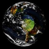 Aarde in diepe ruimte Elementen van dit die beeld door NASA wordt geleverd royalty-vrije stock afbeeldingen
