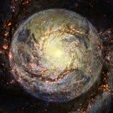 Aarde in diepe ruimte Elementen van dit die beeld door NASA wordt geleverd royalty-vrije stock foto
