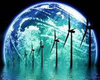 Aarde ecologische technologie Stock Foto