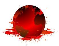 Aarde en bloed Royalty-vrije Stock Afbeeldingen