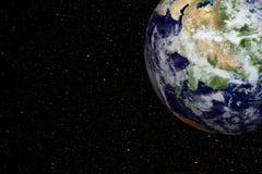 Aarde en kosmische ruimte vector illustratie
