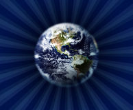 Aarde en kosmische ruimte stock illustratie