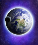 Aarde en maan Stock Afbeeldingen