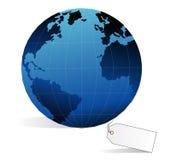 Aarde en prijskaartje Stock Foto
