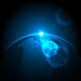 Aarde en Ruimte Royalty-vrije Stock Afbeeldingen
