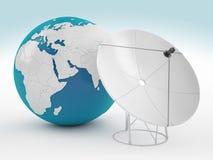 Aarde en satelliet stock illustratie