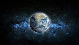 Aarde en ster Elementen van dit die beeld door NASA wordt geleverd stock foto