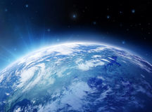 Aarde en Sterren Royalty-vrije Stock Afbeeldingen
