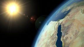Aarde en Zon Stock Afbeelding