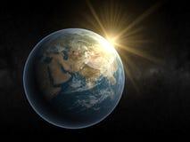 Aarde Europa Royalty-vrije Stock Afbeeldingen