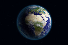 Aarde - Europa & Wolken Royalty-vrije Stock Afbeeldingen