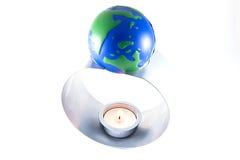 Aarde in gevaar-globale warm Royalty-vrije Stock Afbeeldingen