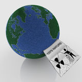 Aarde gevormde bal van wol Stock Foto