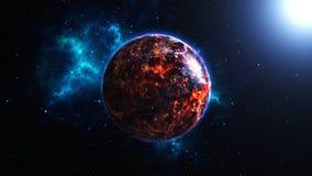 Aarde het branden na een globale ramp, Apocalyps Royalty-vrije Stock Afbeelding