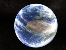 Aarde in het heelal Royalty-vrije Stock Afbeeldingen