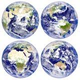 Aarde, het Noorden en Zuid-Amerika, Eurasia, Afrika, Australië Stock Illustratie