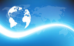Aarde informatiestroom. Vectorillustratie Stock Afbeeldingen