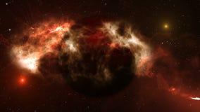Aarde in kosmische ruimte stock illustratie