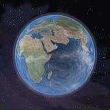 Aarde in kosmische ruimte (leg 64816038 opnieuw voor) Royalty-vrije Stock Foto