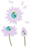 Aarde in Lotus Royalty-vrije Stock Afbeeldingen