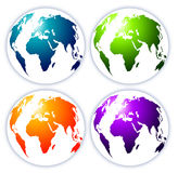Aarde Map stock illustratie