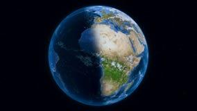Aarde, mening van kosmische ruimte stock video