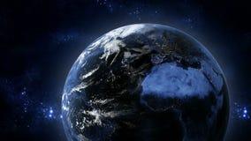 Aarde, mening van ruimte, 3d animatie royalty-vrije illustratie