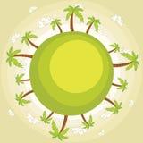 Aarde met aardige hemelillustratie stock illustratie