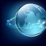 Aarde met communicatie digitale vezels Stock Afbeeldingen
