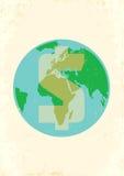 Aarde met dollar Royalty-vrije Stock Afbeeldingen