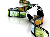 Aarde met film Stock Foto's