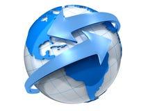 Aarde met pijlen Stock Afbeelding