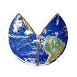Aarde met pit Royalty-vrije Stock Foto