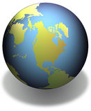 Aarde met schaduw Stock Foto's