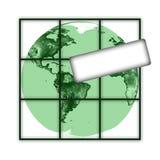 Aarde met tablet Royalty-vrije Stock Foto's