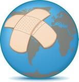 Aarde met Verband Stock Foto